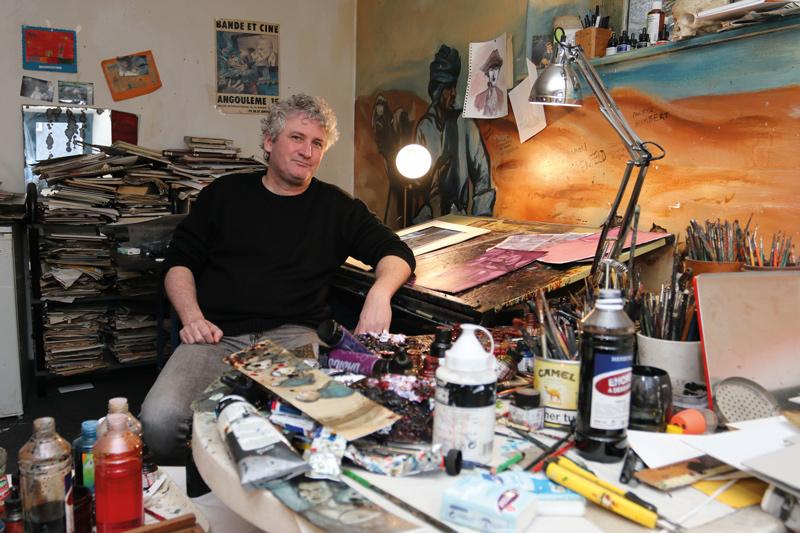 Briac exerce une activité solitaire, proche de l'aquarelliste de moyen-age.«Il faut que l'entourage soit conciliant.»