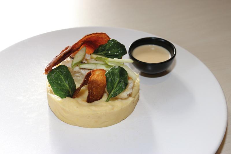 Le Merlu et panais au beurre de cidre de Christian où les produits locaux trouvent un place de choix.